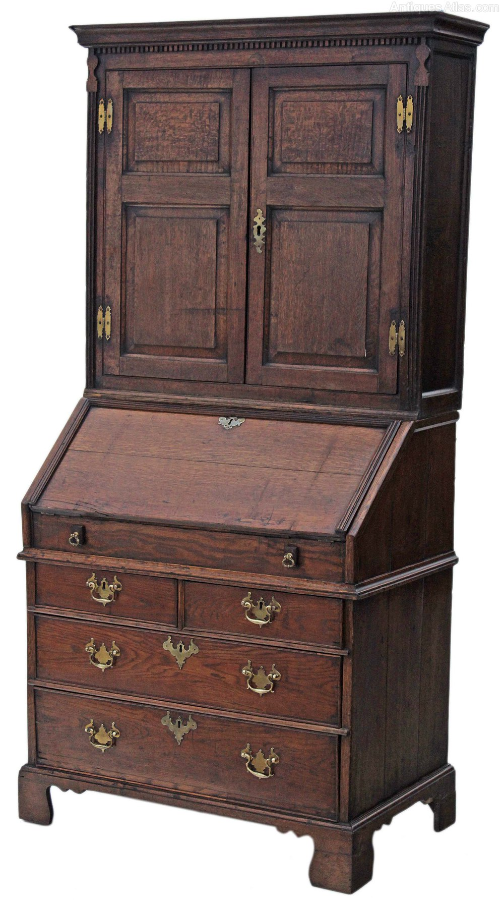 georgian oak bureau bookcase desk writing table antiques atlas. Black Bedroom Furniture Sets. Home Design Ideas