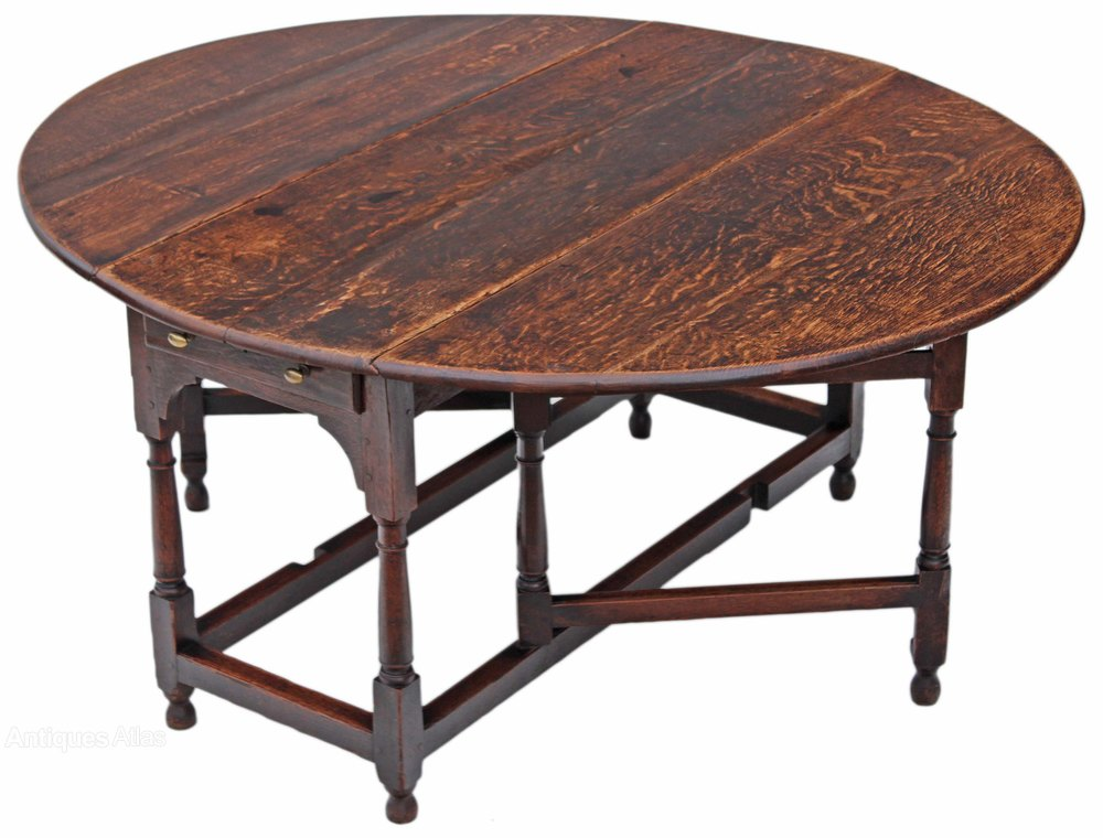 Georgian oak gateleg drop leaf dining table antiques atlas for Drop leaf dining table