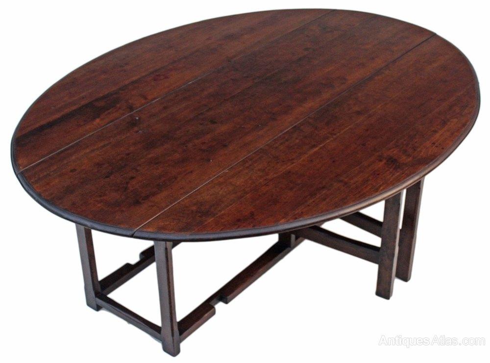 Georgian Oak Wake Dining Board Room Table Gate Leg Antiques Atlas