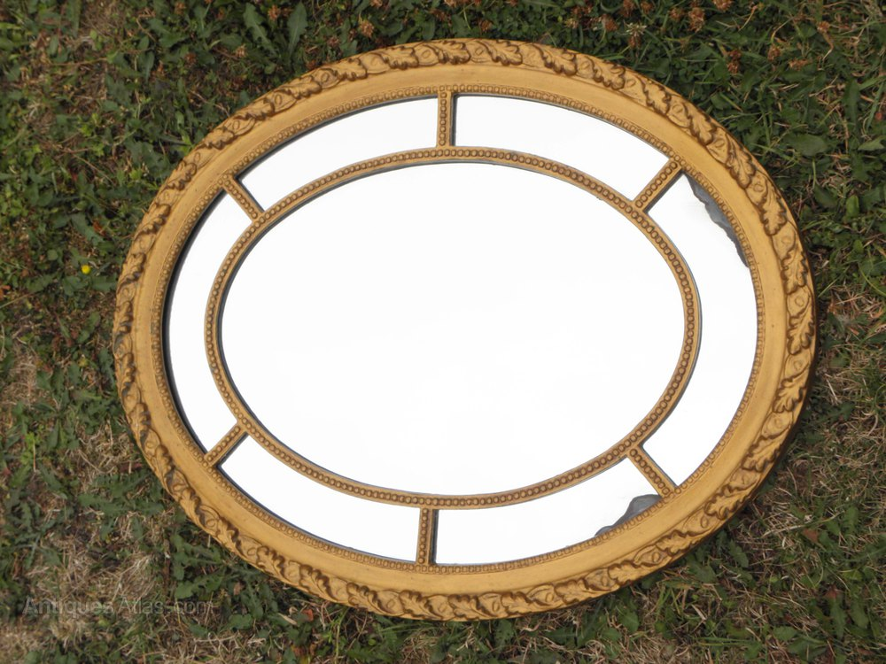 Antiques atlas gold old wooden framed mirror gilt gesso for Small wood framed mirrors