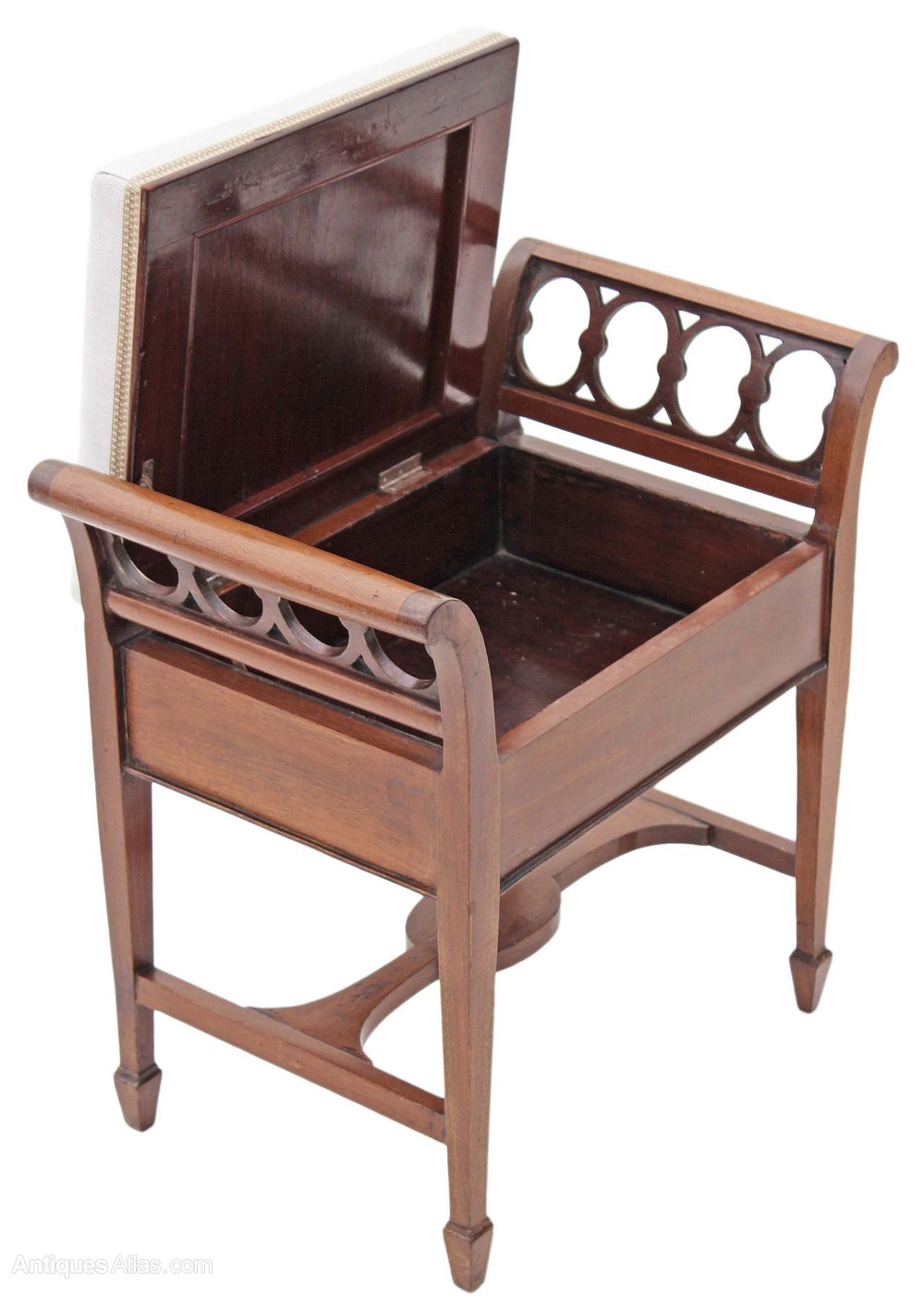 Mahogany Edwardian Piano Music Stool Dressing Stool
