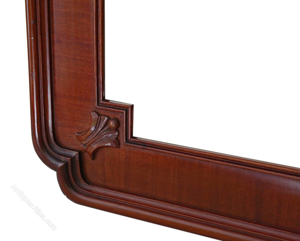 Antiques atlas mahogany framed overmantle wall mirror for Overmantle mirror