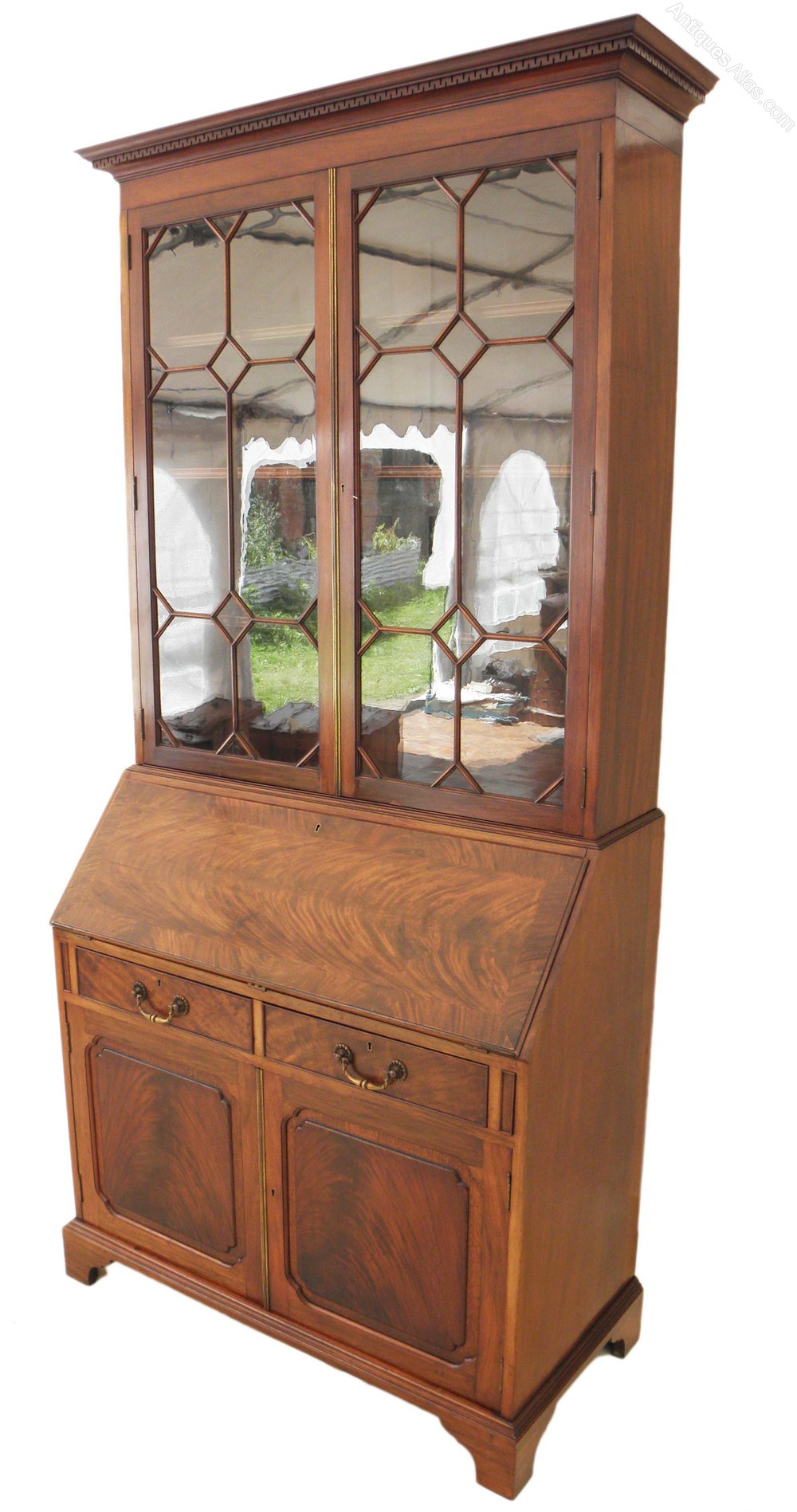 Maple and co astral glazed bureau secretaire book for Bureau secretaire