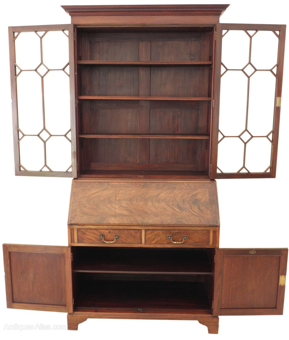 maple and co astral glazed bureau secretaire book antiques atlas. Black Bedroom Furniture Sets. Home Design Ideas