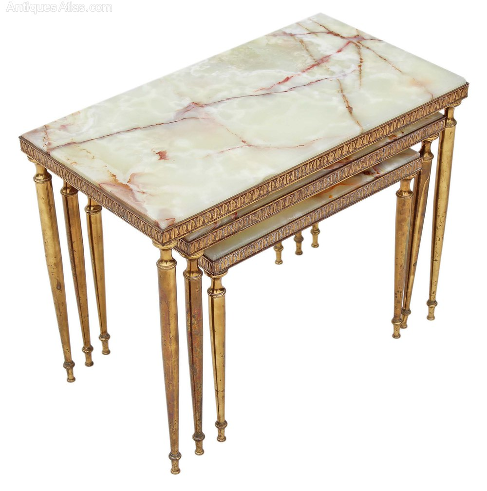 Nest 3 Onyx Marble Amp Brass Tables Side Occasional