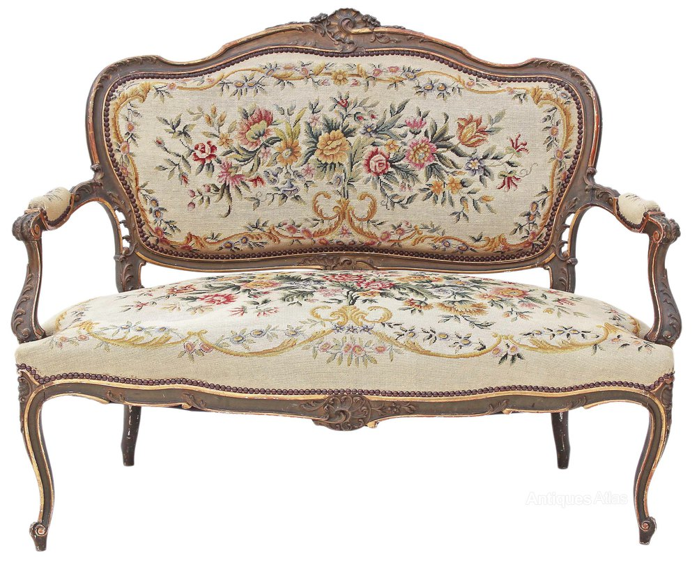 Painted louis xv sofa chaise longue antiques atlas for Chaise longue furniture