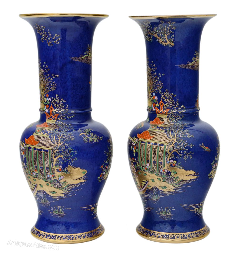 Antiques Atlas Pair Of Art Deco Carlton Ware Vases