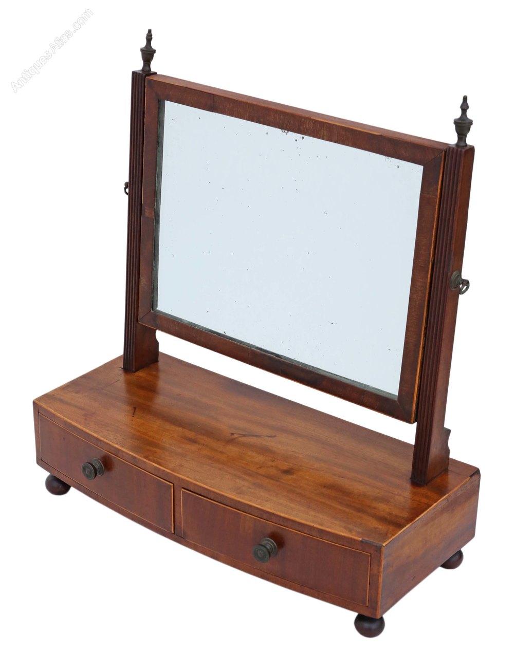 Antiques atlas regency c1825 mahogany swing dressing for Dressing table mirror