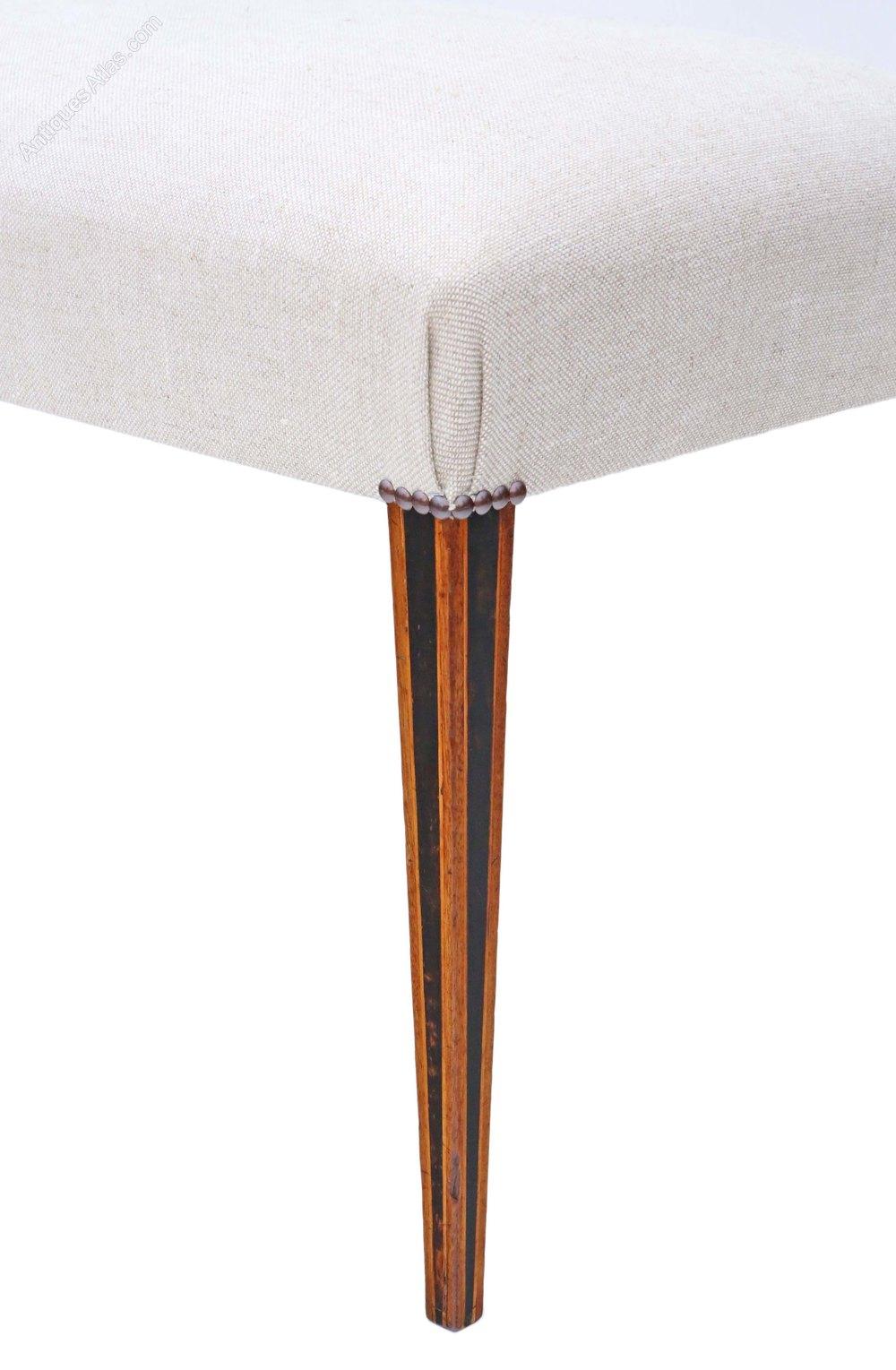 Regency Amp Later Mahogany Window Seat Chair Stool