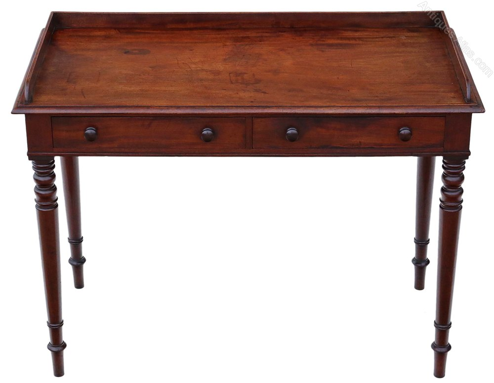 Mahogany Writing Desk ~ Regency mahogany writing desk or dressing table antiques