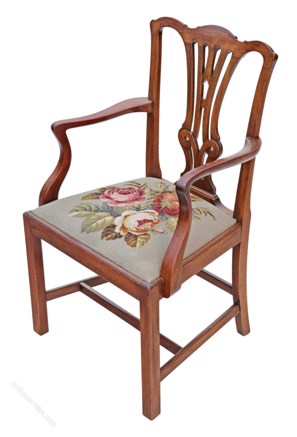 Set 8 Mahogany Georgian Chippendale Dining Chairs