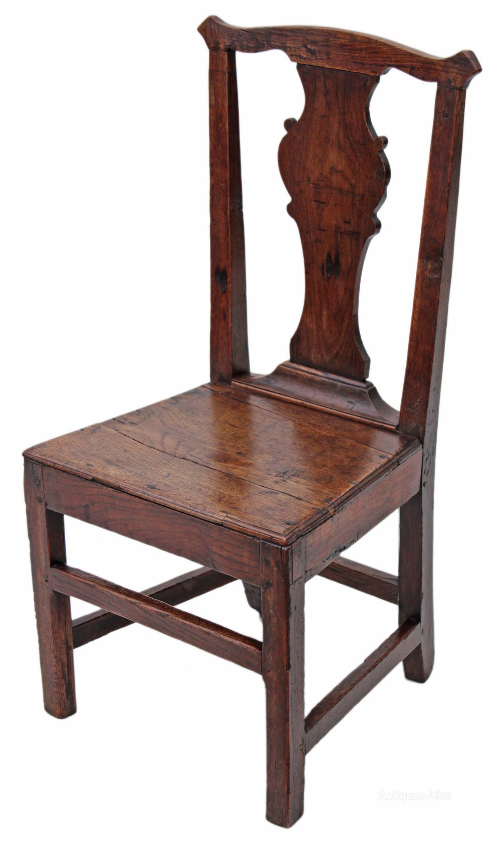 ... Antique Country Dining Chairs ... - Set Of 4 Georgian Elm Country Dining Chairs - Antiques Atlas