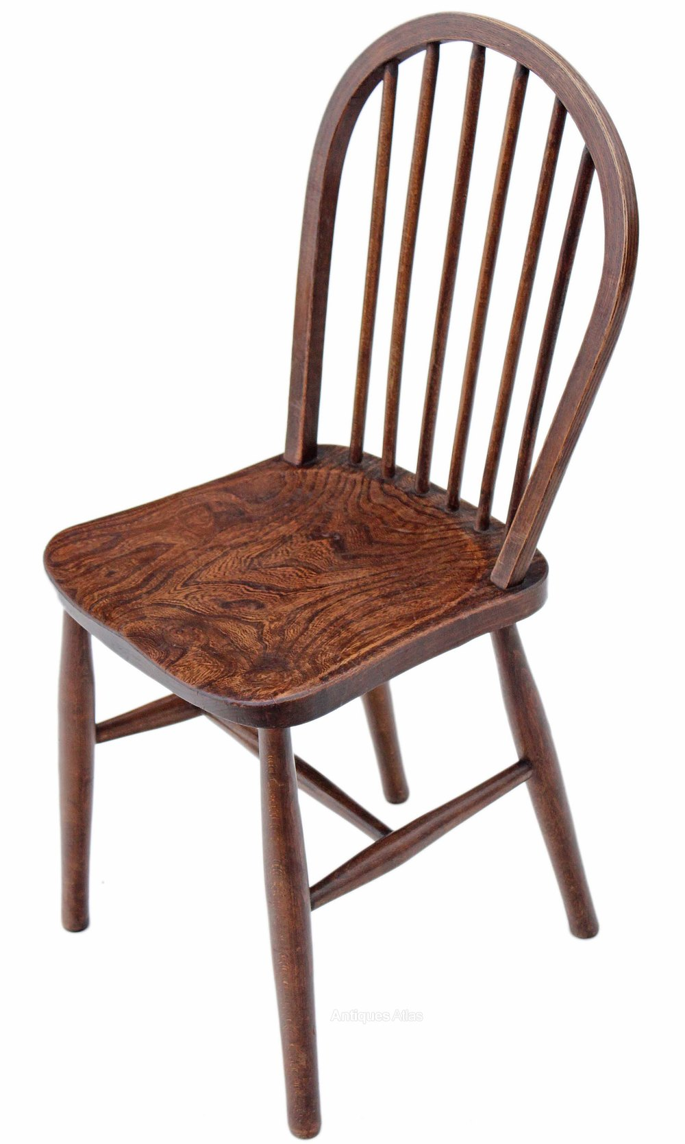 Set of 4 windsor ash elm kitchen dining chairs antiques for Dining chairs 4 set