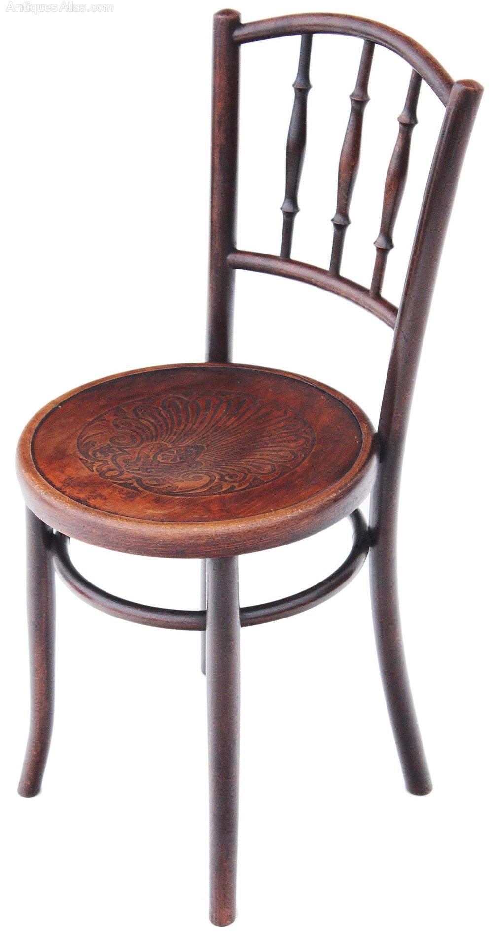 Set Of 4 Bentwood Oak Elm Kitchen Dining Chairs Antiques Atlas