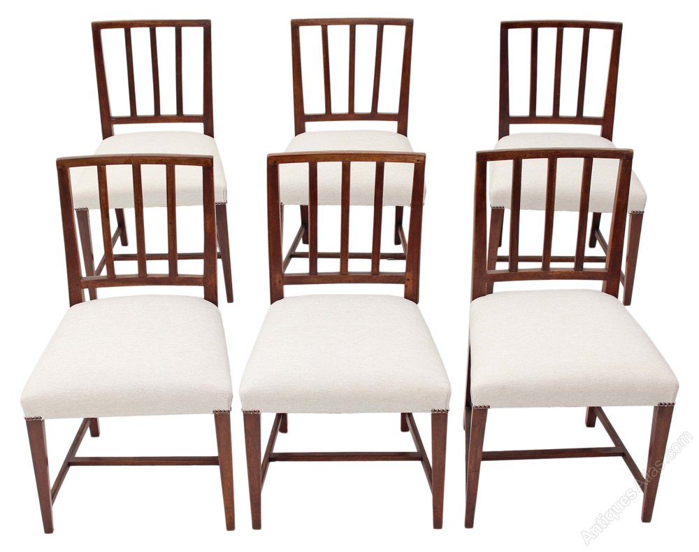 Set Of 6 Georgian Dining Chairs Mahogany Antiques Atlas : Setof6Georgiandiningchairas462a1128z from www.antiquesatlas.com size 1000 x 789 jpeg 93kB