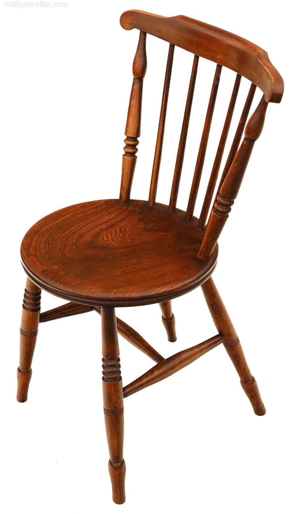 Set Of 6 Victorian Beech Elm Penny Windsor Chairs Antiques Atlas