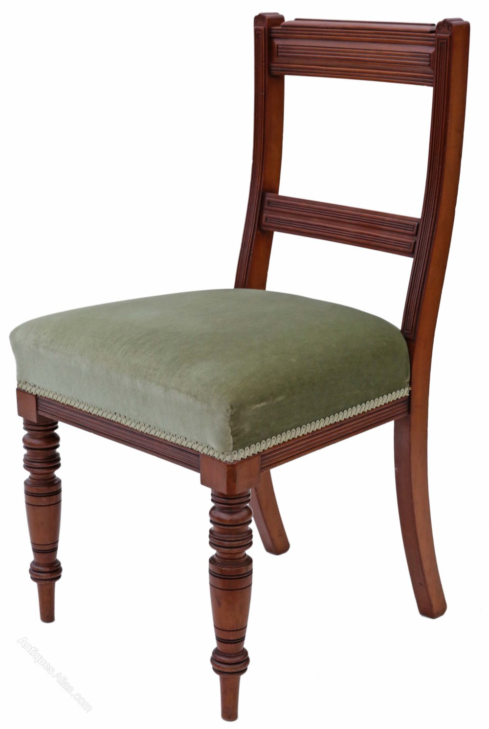 Set of 6 victorian walnut dining chairs antiques atlas for Set of 6 dining chairs