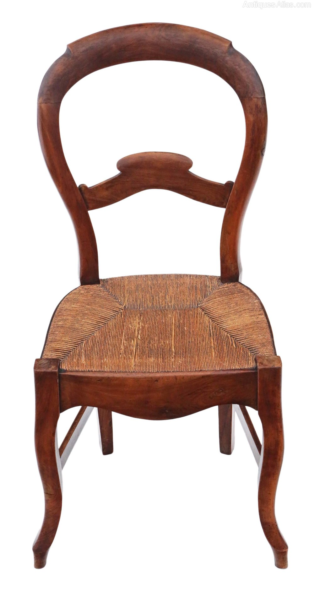 Set Of 6 Fruitwood Kitchen Dining Chairs Antiques Atlas