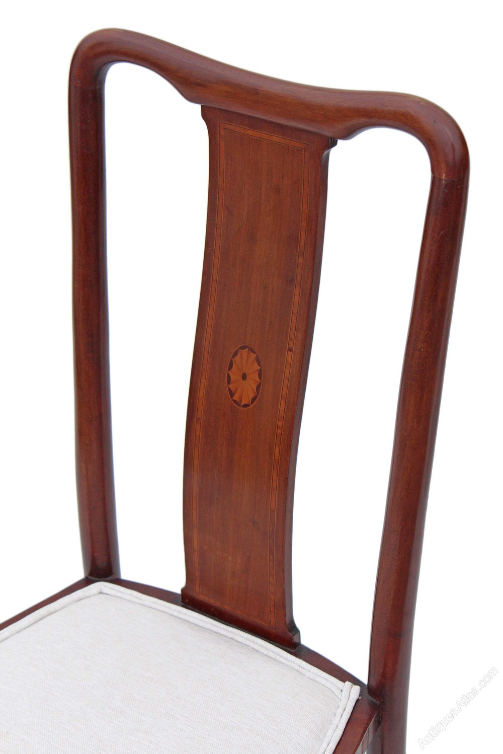 Set Of 6 Inlaid Mahogany Queen Anne Dining Chairs Antiques Atlas