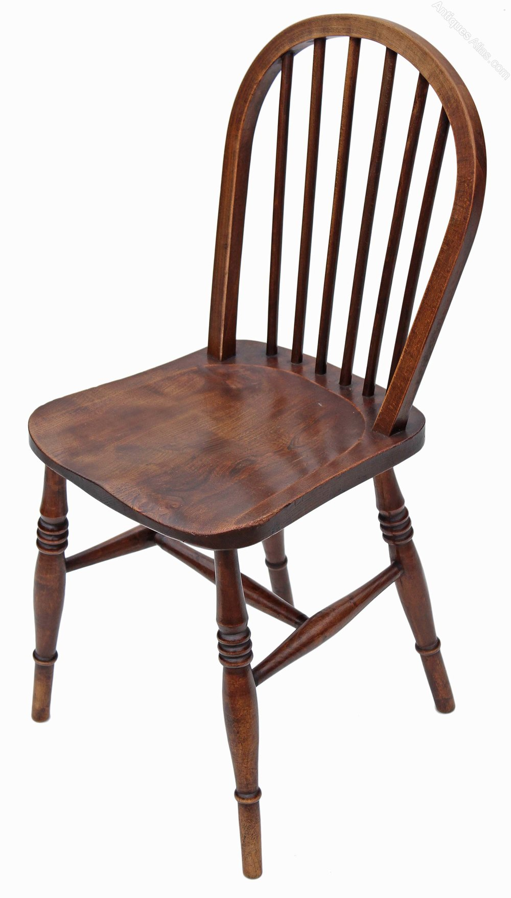 Set Of 6 Spindle Back Ash Kitchen Dining Chairs Antiques Atlas