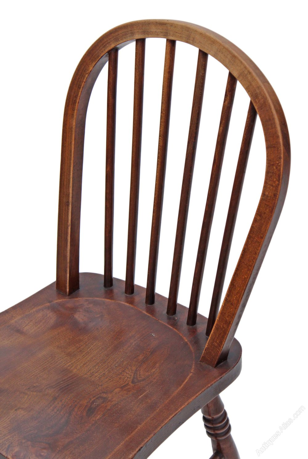 Set Of 6 Spindle Back Ash Kitchen Dining Chairs - Antiques ...
