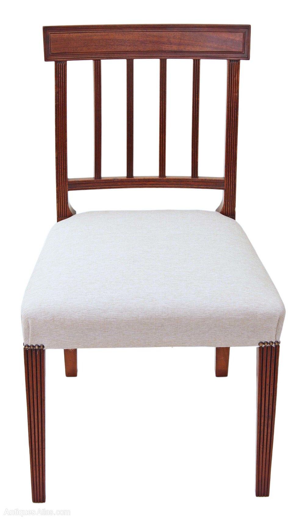 Set Of 8 6 2 Mahogany Georgian Dining Chairs
