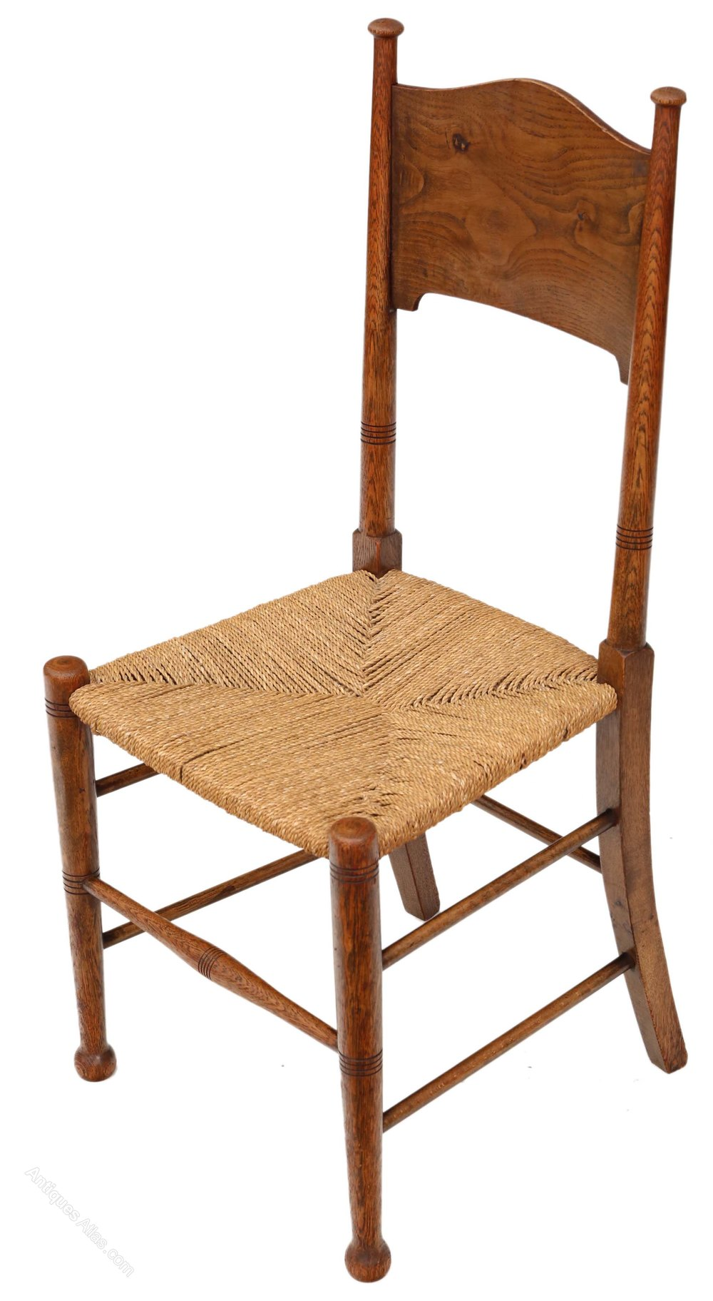 Set Of 8 Oak And Elm Arts Crafts Dining Chairs