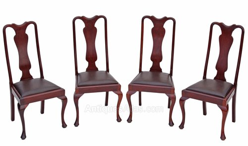 Set of Edwardian mahogany walnut dining chairs ... - Set Of Edwardian Mahogany Walnut Dining Chairs - Antiques Atlas
