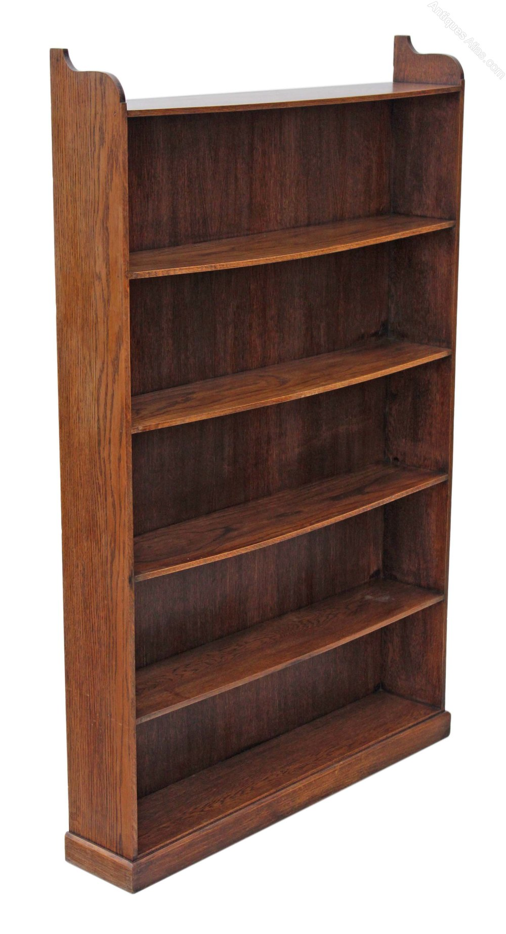 Tall Large Quality Oak Elm Open Bookcase Shelves