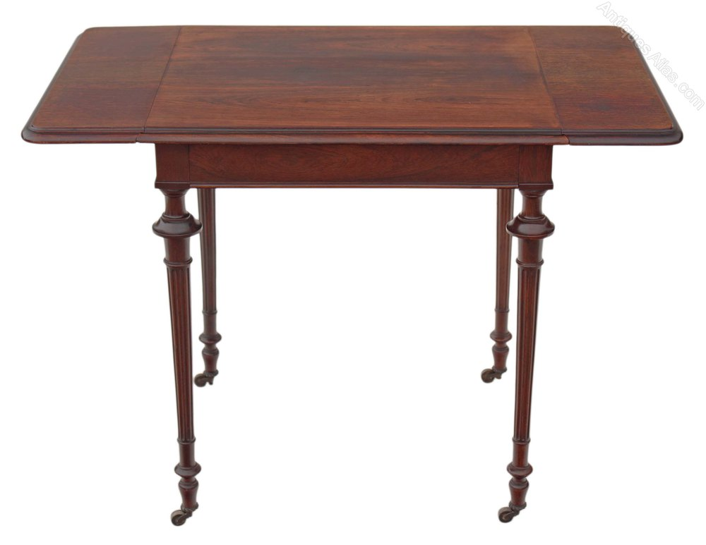 Victorian 19c rosewood sofa table side occasional for Sofa table vintage