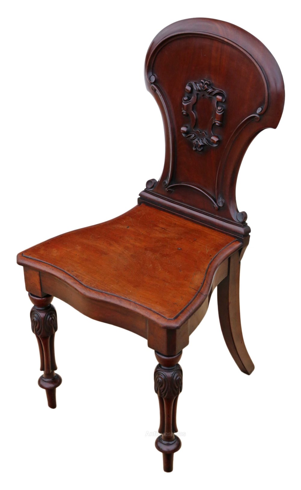 Foyer Chair Quotes : Victorian c carved mahogany hall chair antiques atlas