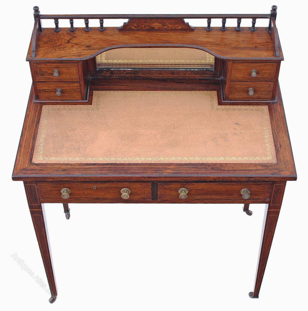 Victorian Rosewood Writing Desk Dressing Table Antiques