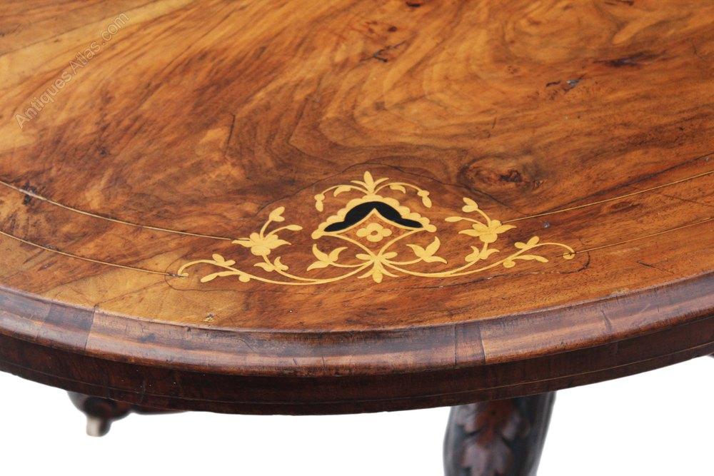 Victorian Burr Walnut Oval Tilt Top Loo Table Antiques Atlas