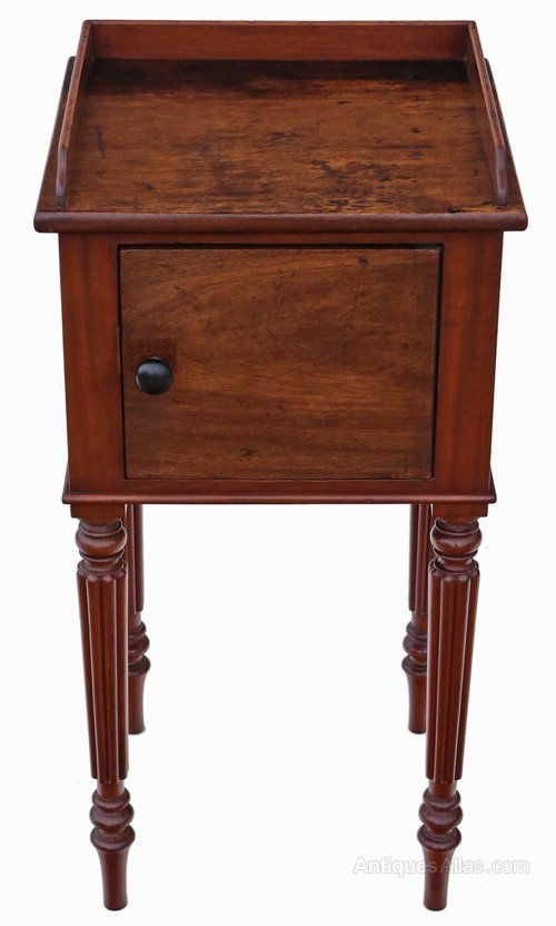 Mahogany Bedside Table Cupboard Cabinet Antiques Atlas