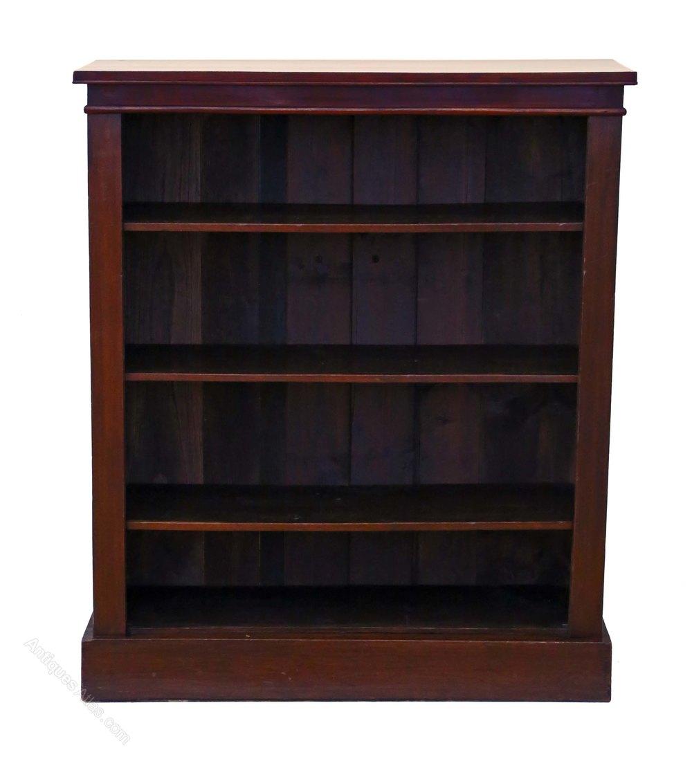 mahogany open bookcase shelves antiques atlas