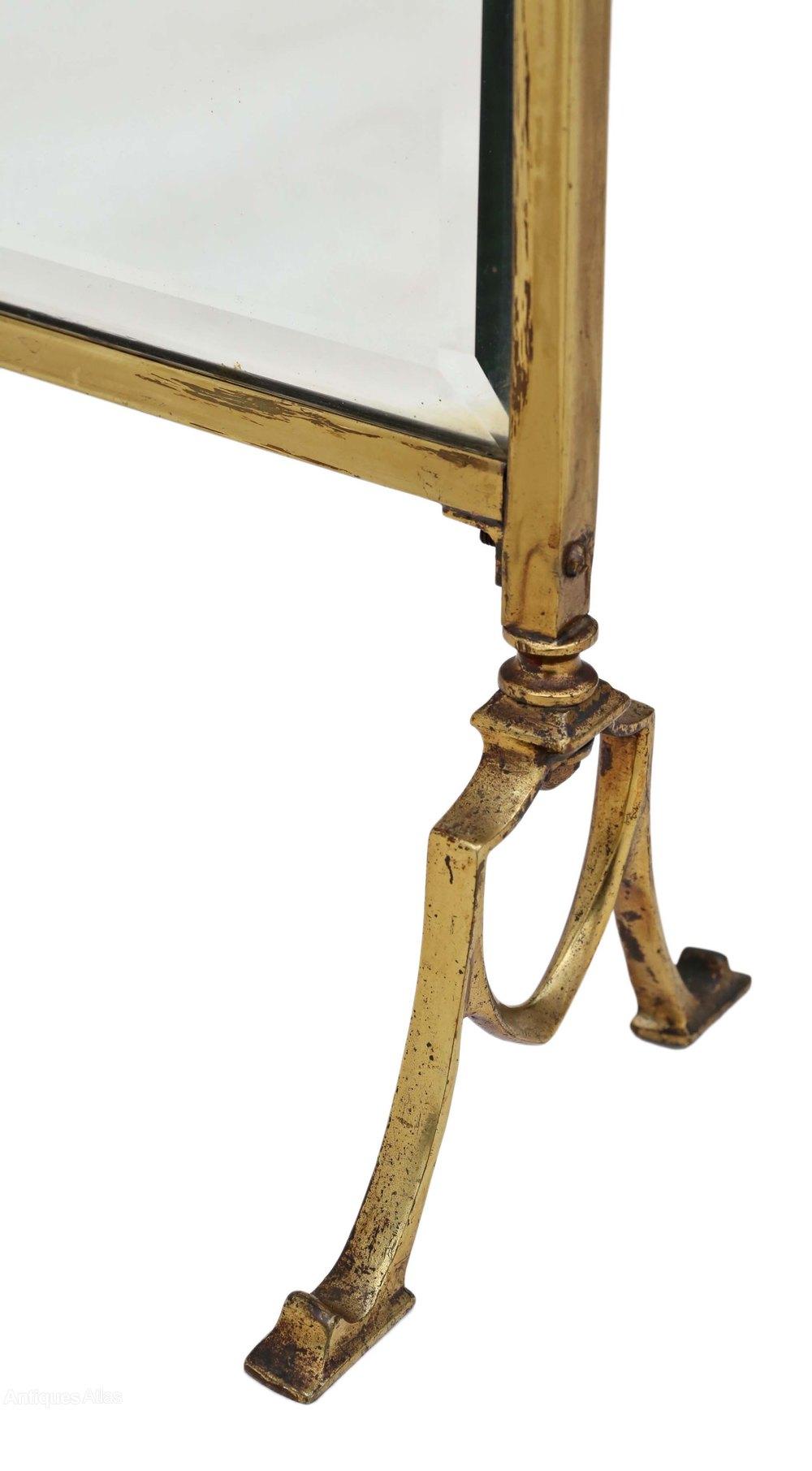 Antiques Atlas Victorian Ormolu Brass Cut Glass Fire Screen