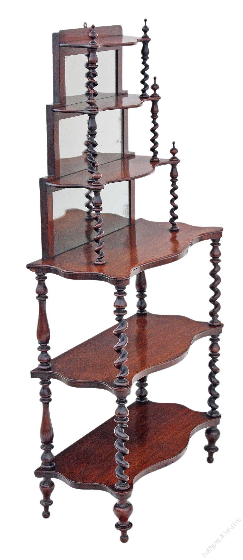 Victorian Rosewood Open Bookcase Whatnot Shelves