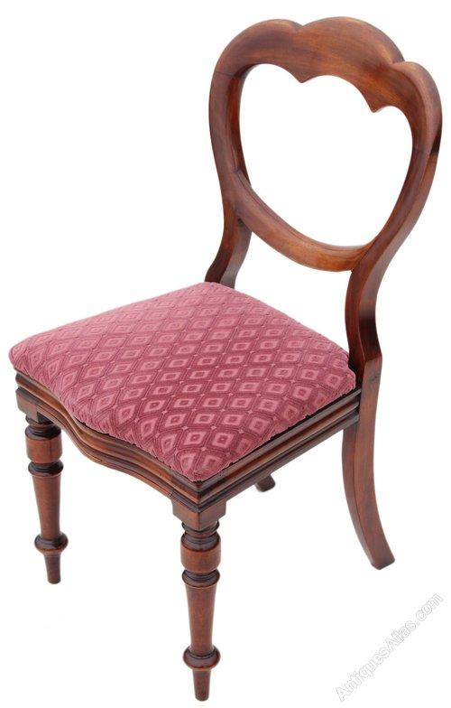 Victorian walnut dining chair balloon back bedroom antiques atlas