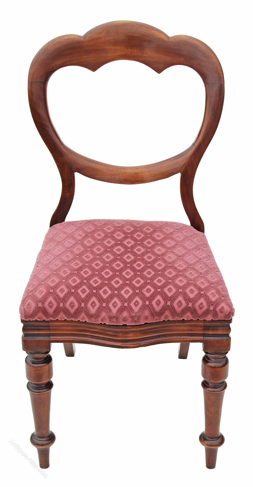 Victorian Walnut Dining Chair Balloon Back Bedroom