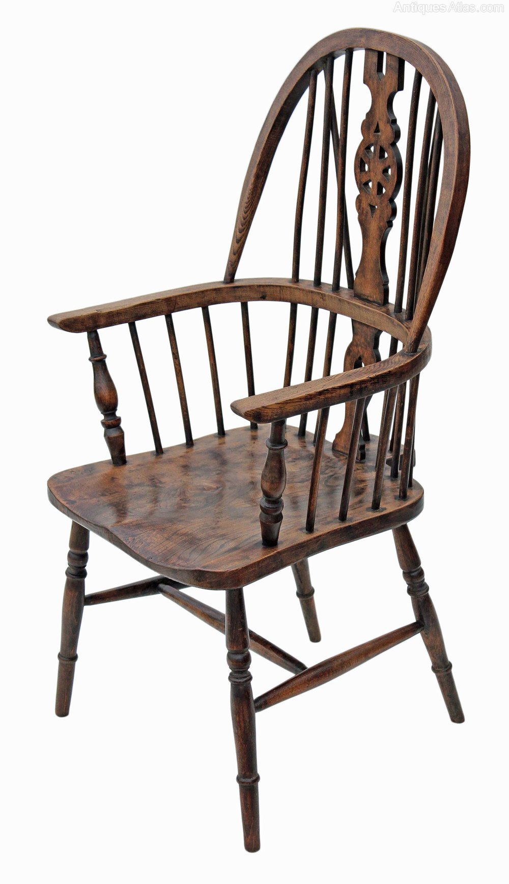 Windsor Armchair Carver Hall Side Dining Chair Antiques Atlas