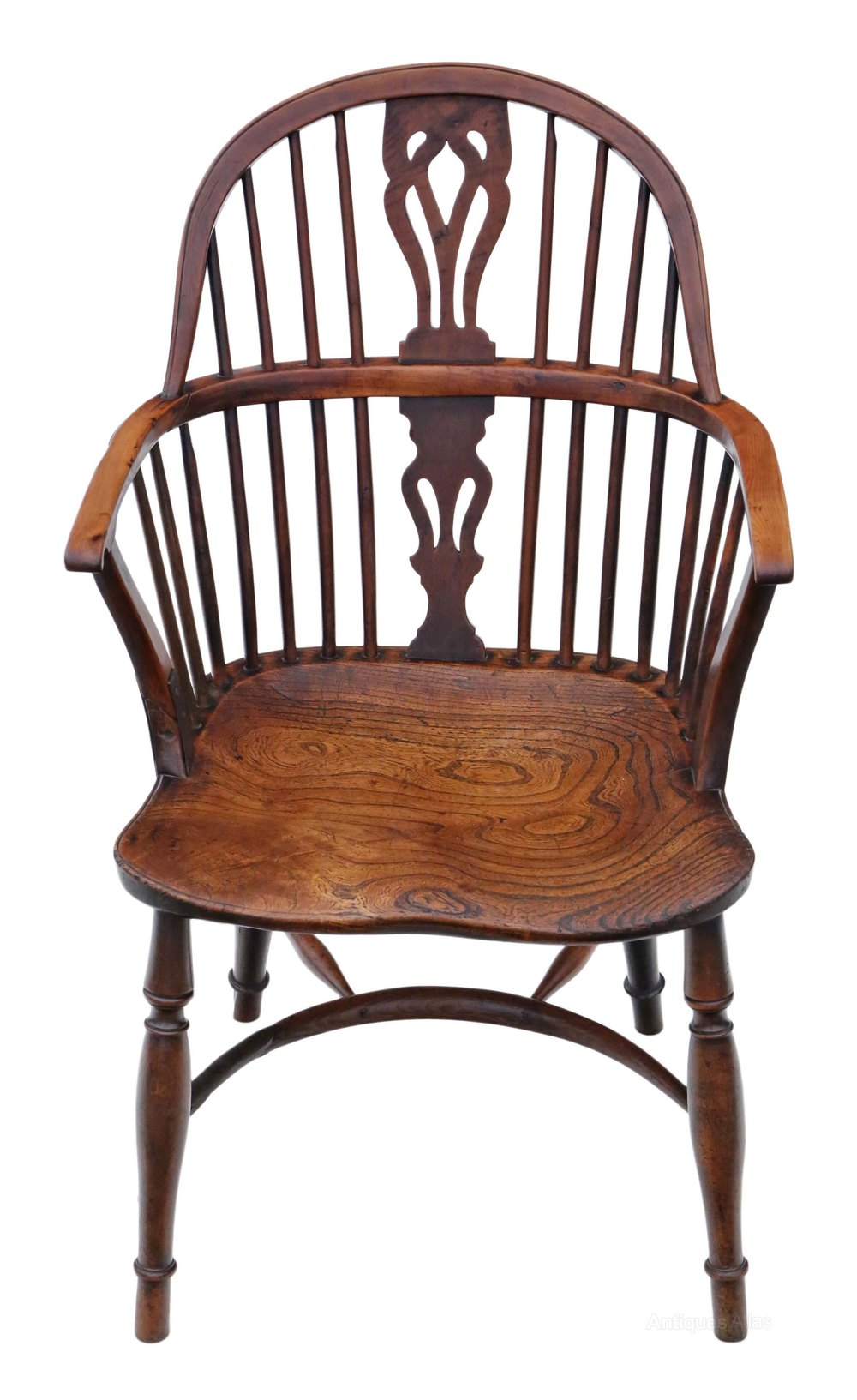Windsor Armchair Chair Hall Side Dining Carver Antiques