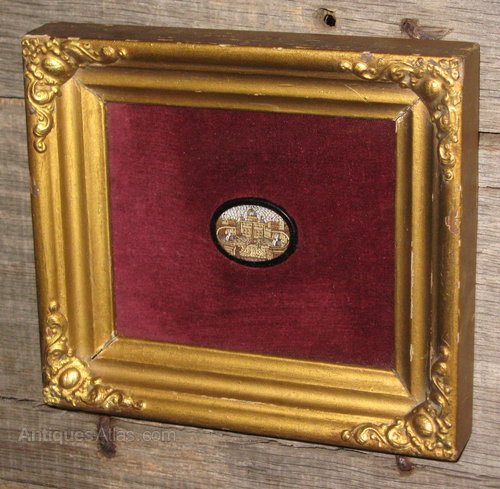Antiques Atlas Framed Victorian Micro Mosaic Tablet