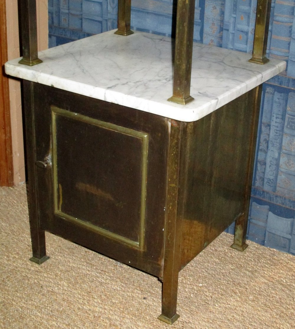 French Marble And Gilt Metal Bedside Table Antiques Atlas