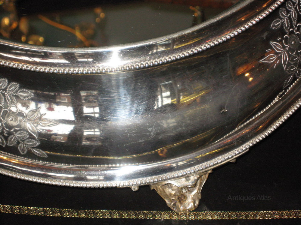 Antiques Atlas Large Victorian Silver Plate Wedding Cake
