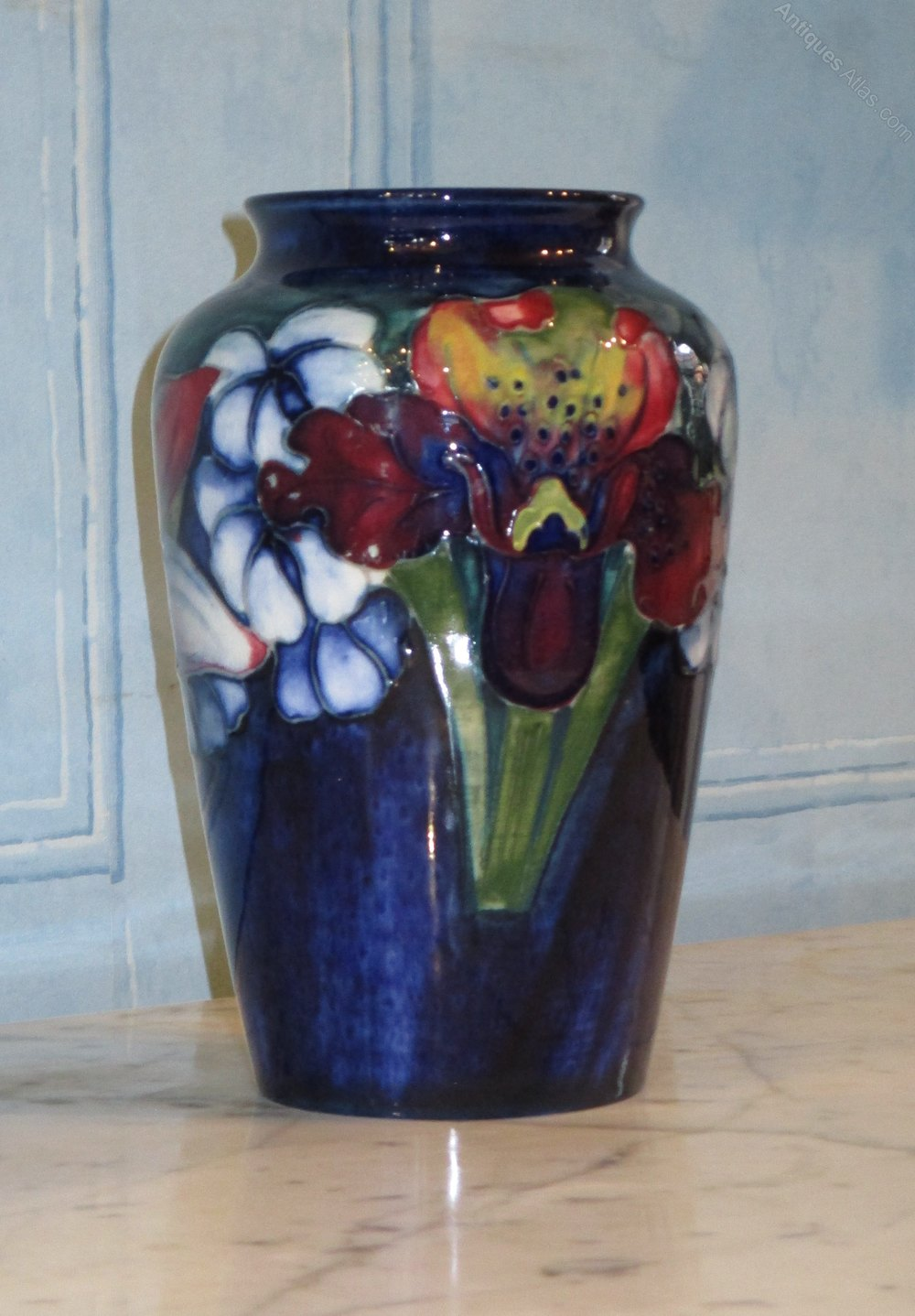 Antiques Atlas Moorcroft Orchid With Spring Flowers Pattern Vase
