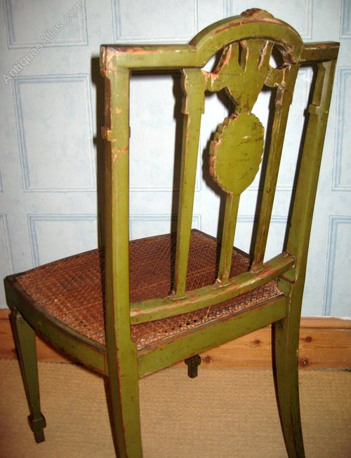 Neoclassical Painted Chair In Green Antiques Atlas