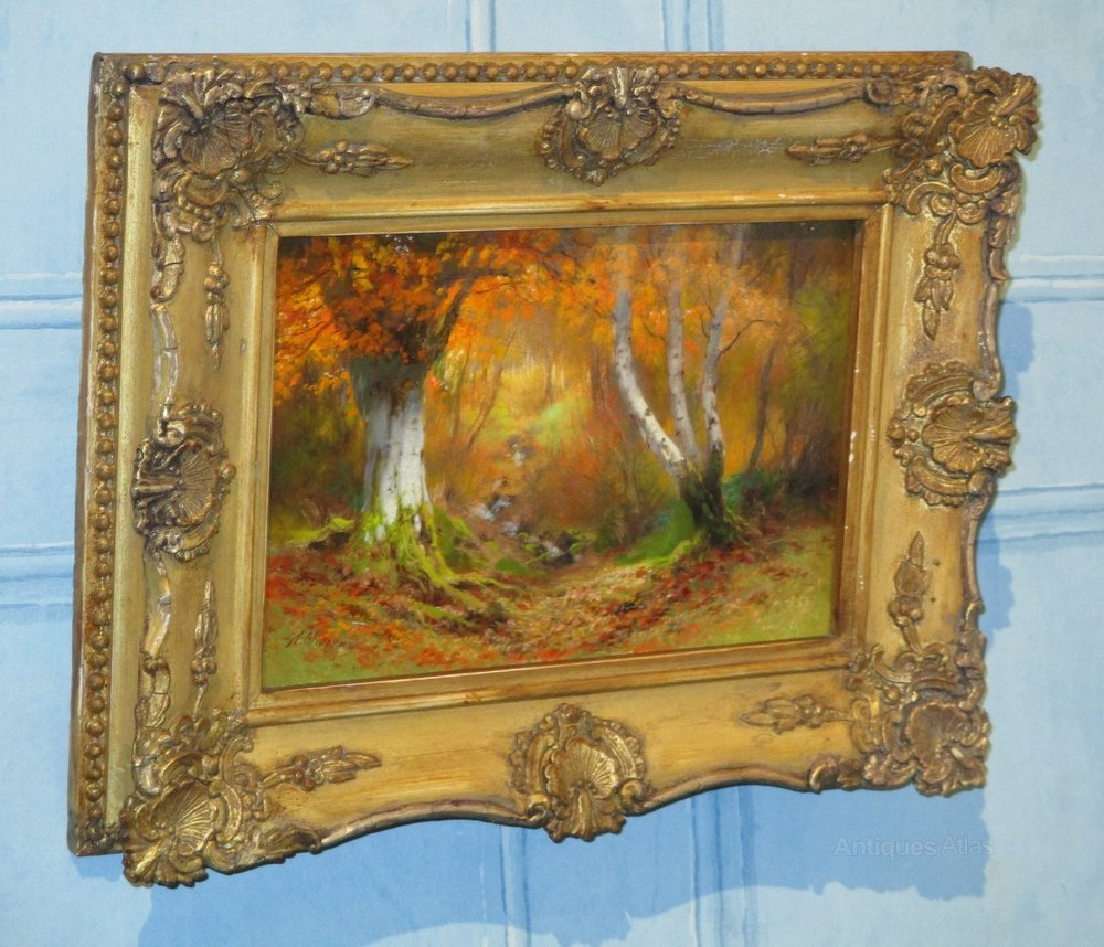 Superb Pair Small Oil Paintings By Alfred
