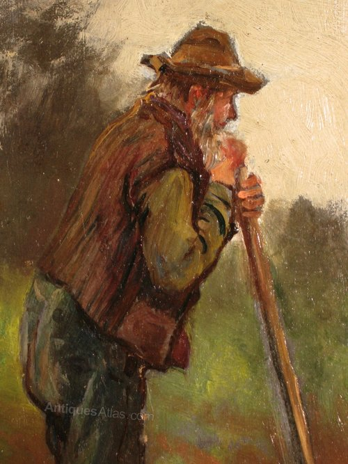 victorian oil the gardener antique oil paintings oil painting victorian