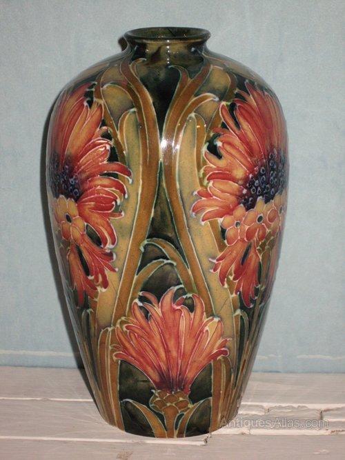 Antiques Atlas William Moorcroft Brown Chrysanthemum Pattern Vase