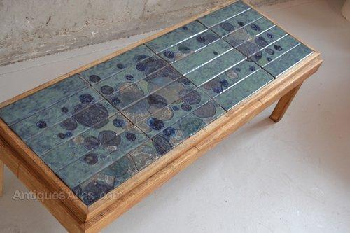 Antiques Atlas 1970 39 S Belgian Ceramic Tile Coffee Table